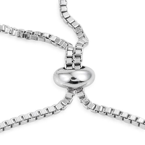 Rare Mozambique Grape Colour Garnet (Ovl) Adjustable Bracelet (Size 6 to 8 Inch) in Platinum Overlay Sterling Silver 4.750 Ct.