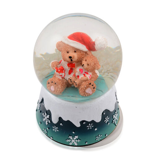 Moving Musical Multi Colour Lighted Bear Water Globe