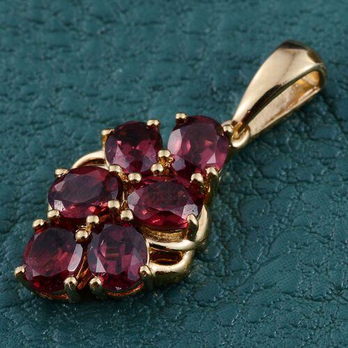 Rhodolite Garnet (Ovl) Pendant in 14K Gold Overlay Sterling Silver 2.750 Ct.