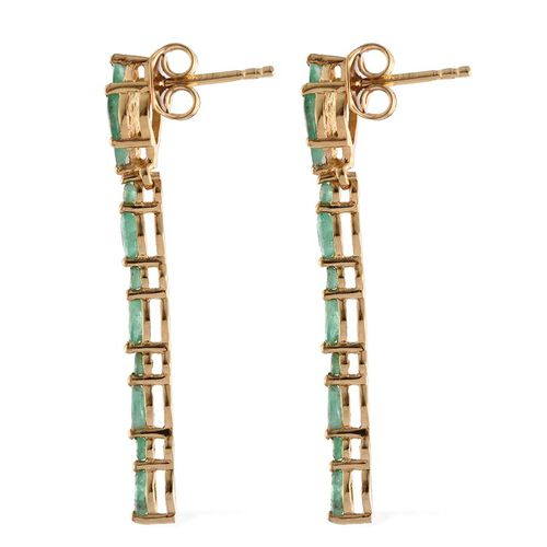 Kagem Zambian Emerald (Mrq) Earrings (with Push Back) in 14K Gold Overlay Sterling Silver 1.500 Ct.
