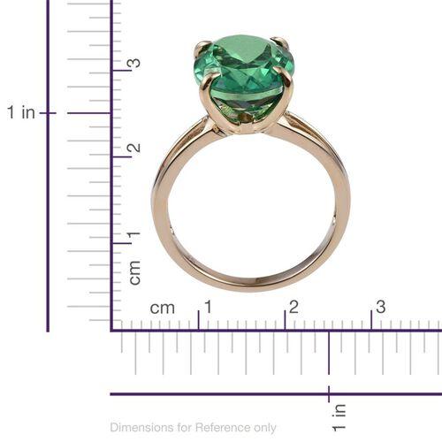 9K Y Gold Peacock Quartz (Ovl) Solitaire Ring 9.250 Ct.