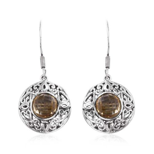 Citrine (Rnd) Hook Earrings in Sterling Silver 4.970 Ct.