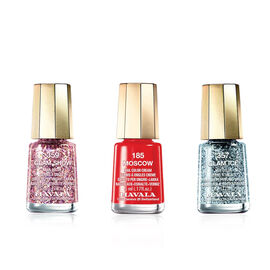 Option 3 - MAVALA- Trio Santas Little Helpers-357 Glam Ice, 185 Moscow and 359 Glam Show 5ml