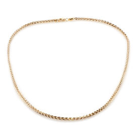 Royal Bali Collection Hand Made 9K Yellow Gold Franco Necklace (Size 20), Gold wt 3.95 Gms.