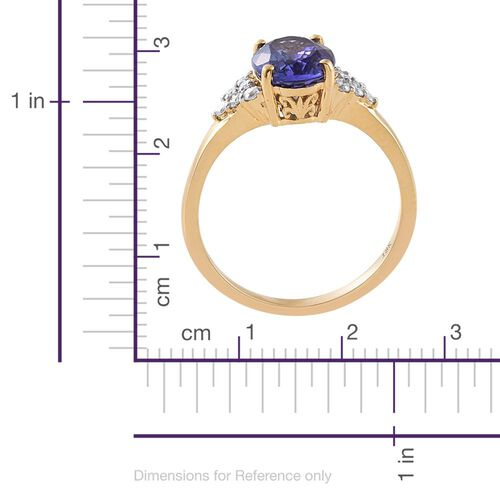 ILIANA 18K Y Gold AAA Tanzanite (Ovl 2.75 Ct), Diamond (SI/G-H) Ring 3.000 Ct.