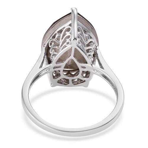 J Francis Crystal from Swarovski - Purple Velvet Crystal (Pear) Ring in Platinum Overlay Sterling Silver