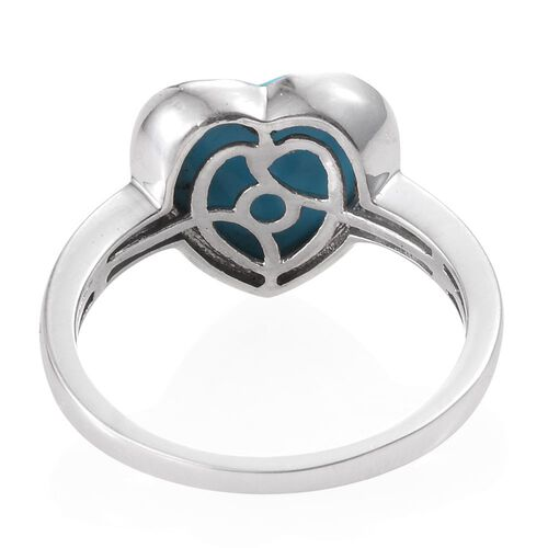 Arizona Sleeping Beauty Turquoise (Hrt) Solitaire Ring in Platinum Overlay Sterling Silver 3.000 Ct.