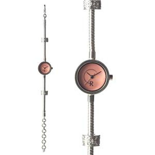 Limited Edition - RACHEL GALLEY Pink Mother of Pearl Japanese Miyota 5030 Movement 5 Micron Gold Plating Snake Bracelet Timepiece in Swarovski Crystal