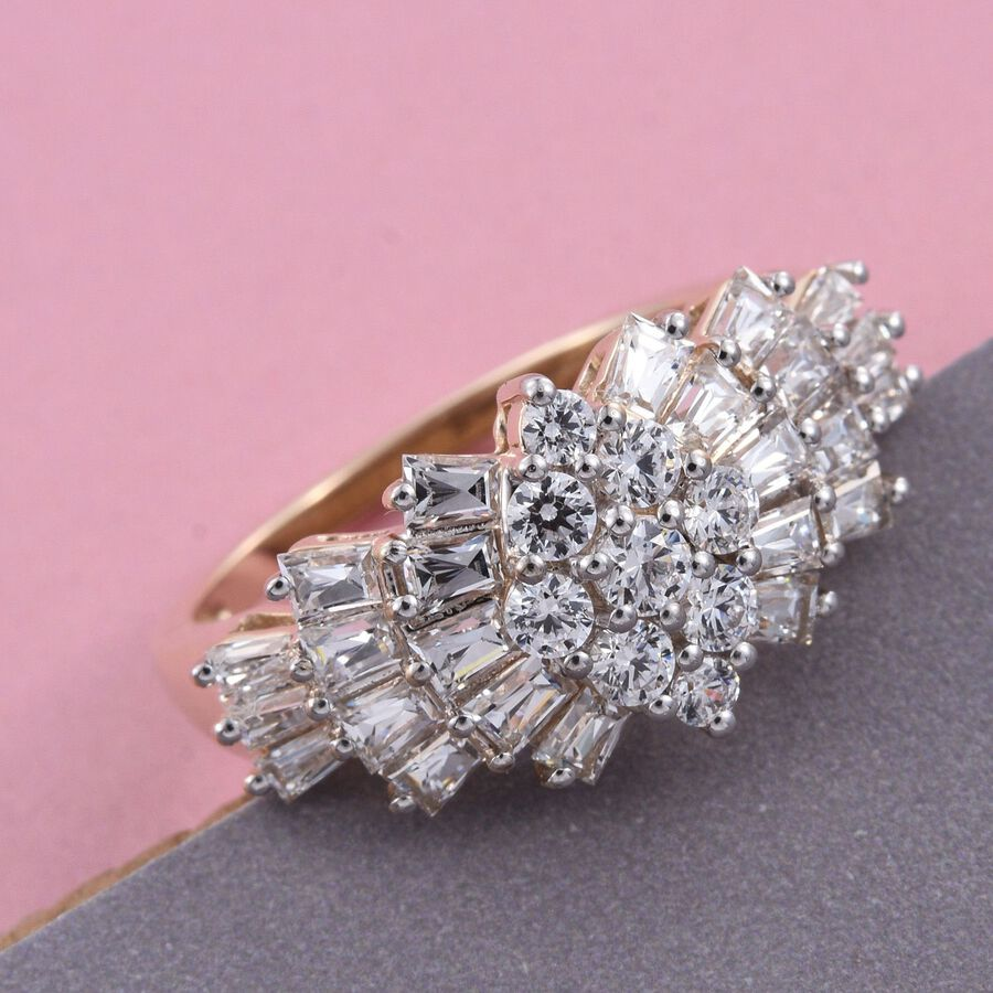 9K Y Gold (Rnd) Ballerina Ring Made with SWAROVSKI ZIRCONIA ...