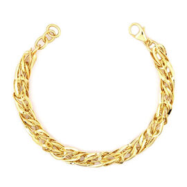 Vicenza Collection 9K Yellow Gold Bracelet (Size 8), Gold wt. 7.82 Gms.
