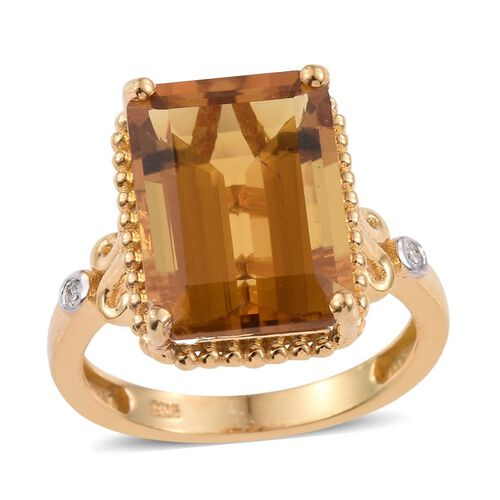 Marialite (Oct), Diamond Ring in 14K Gold Overlay Sterling Silver 7.270 Ct.
