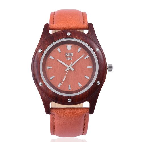 EON 1962 Sandalwood Watch with Brown Genuine Leather Strap