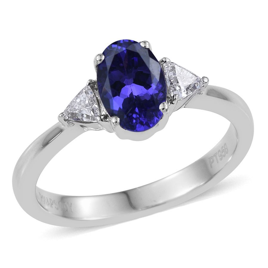 pin a by ring stone enhanced trillion colored cz spectacular tanzanite cut