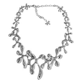 LucyQ SPLASH Necklace (Size 16 with 4 inch Extender) in Rhodium Plated Sterling Silver 76.00 Gms.