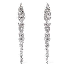 Designer Inspired- Diamond (Rnd) Earrings (with Push Back) in Platinum Overlay Sterling Silver 0.500 Ct.