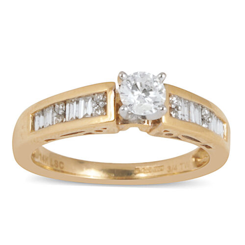 Close Out Deal 14K Y Gold Diamond (Rnd) Bridal Set Ring 0.750 Ct.