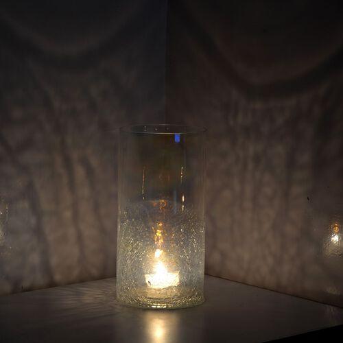 (Option 2) Home Decor - Plain and Crackle Glass Transparent Flower Vase or Tea Light Holder