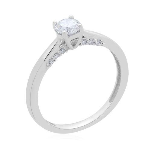 ILIANA 18K W Gold IGI Certified Diamond (Rnd 0.40 Ct) (SI/G-H) Ring 0.500 Ct.