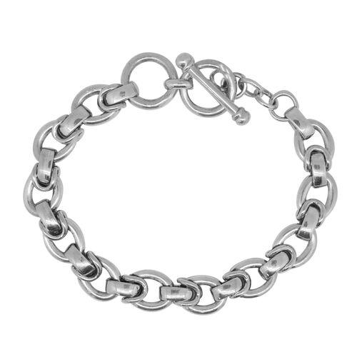 Designer Inspired- Sterling Silver Bracelet (Size 8), Silver wt 37.53 Gms.