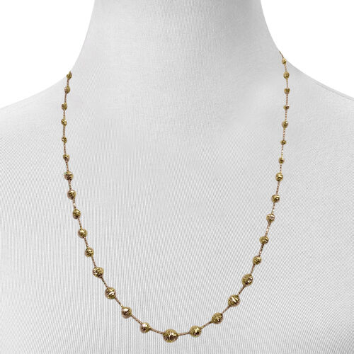 Italian Designer Inspired  9K Y Gold Necklace (Size 18 with 2 inch Extender), Gold wt 9.06 Gms.