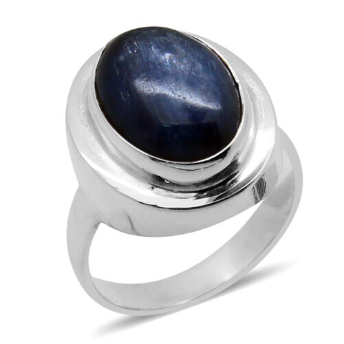 Royal Bali Collection Himalayan Kyanite (Ovl) Solitaire Ring in Sterling Silver 6.310 Ct.