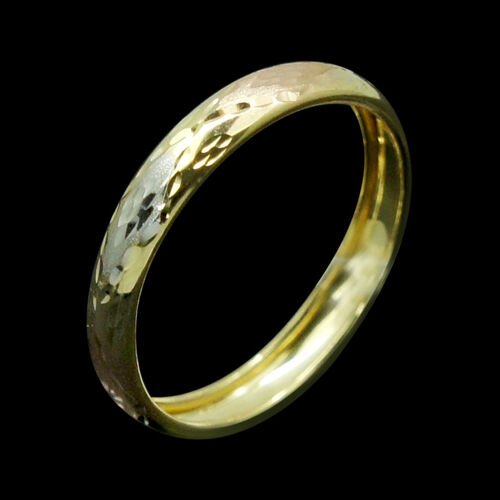 JCK Vegas Collection 9K Yellow, White and Rose Gold Band Ring