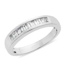 RHAPSODY 950 Platinum IGI Certified Diamond (Bgt) (VS/E-F) Half Eternity Band Ring 0.500 Ct.