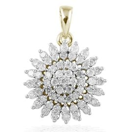 9K Yellow Gold 1 Carat SGL Certified Diamond (I3/G-H) Pendant