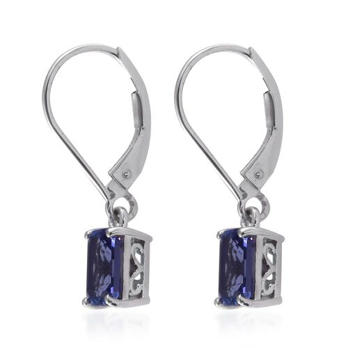 ILIANA 18K White Gold AAA Tanzanite (Oct) Lever Back Earrings 2.000 Ct.