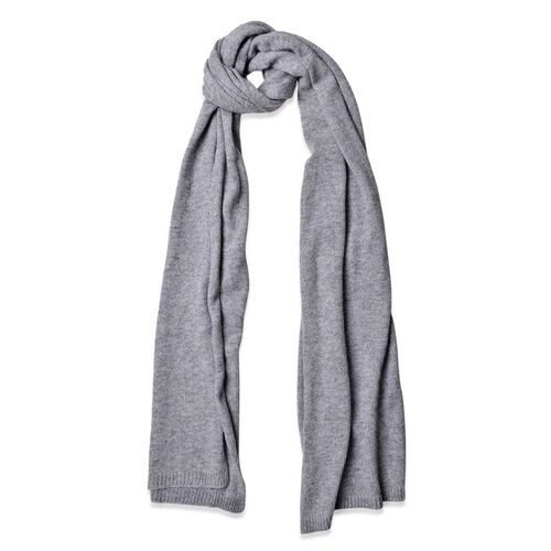 Grey Colour Scarf (Size 210x60 Cm)