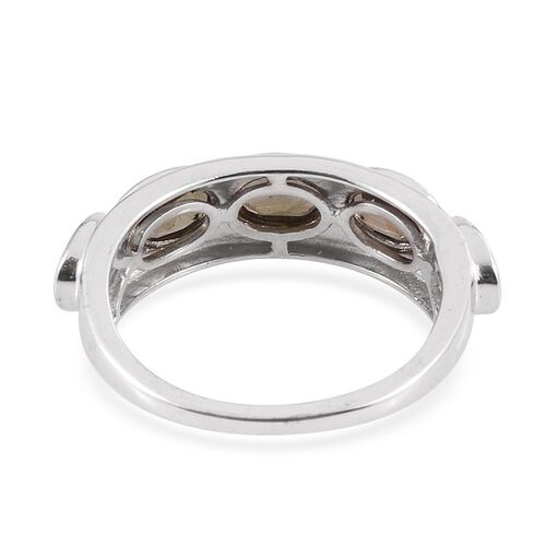 Jenipapo Andalusite (Ovl) 5 Stone Ring in Platinum Overlay Sterling Silver 2.250 Ct.