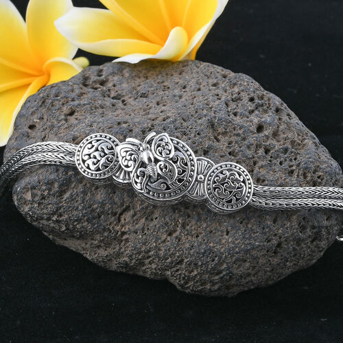 Royal Bali Collection Sterling Silver Butterfly Bracelet (Size 8), Silver wt 19.78 Gms.