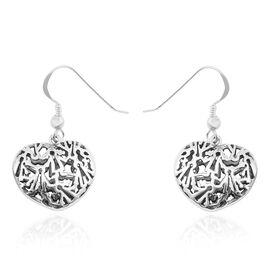 Sterling Silver Heart Hook Earrings, Silver wt 5.30 Gms.