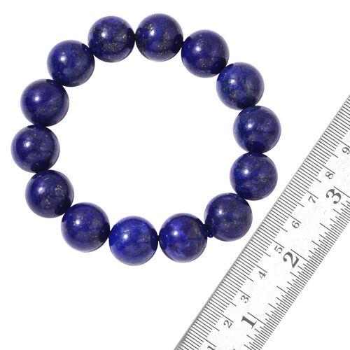 AAA Lapis Lazuli (16mm) Ball Beads Stretchable Bracelet (Size 7.5) 406.000 Ct.