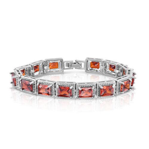Designer Inspired- Madeira Citrine Colour (Oct) Bracelet (Size 7) in Silver Bond