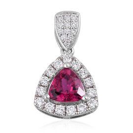 RHAPSODY 950 Platinum 1.02 Carat AAAA Ouro Fino Rubelite, Diamond (VS/E-F) Pendant