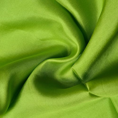 100% Mulberry Silk Lime Green Colour Scarf (Size 170x110 Cm)