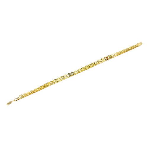 Limited Edition- 9K Y Gold Sparkle Bracelet (Size 7.5), Gold wt 4.33 Gms