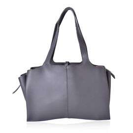 Grey Colour Tote Bag (Size 53x37x25x11 Cm)