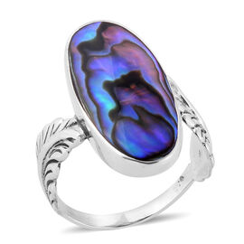 Royal Bali Collection Abalone Shell Ring in Sterling Silver
