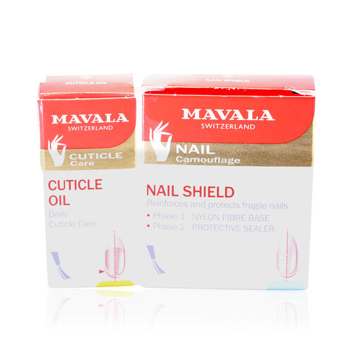 Nail Care for Post Artificial and Gel Nails- -Phase 1- Nail Shield-5ml, Phase 2- Cuticle Oil- 5ml