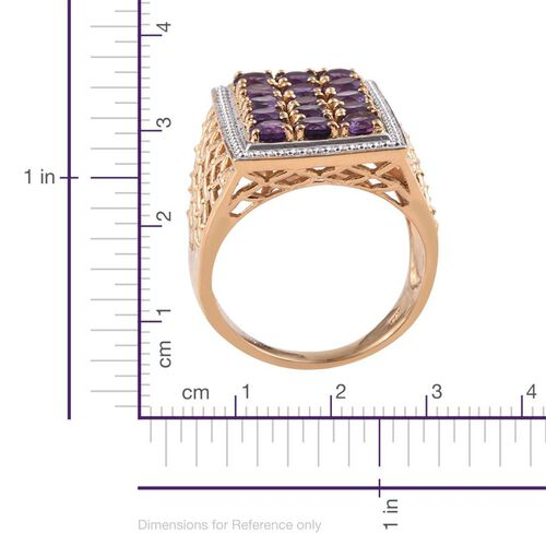 AA Lusaka Amethyst (Rnd) Ring in 14K Gold Overlay Sterling Silver 3.500 Ct.