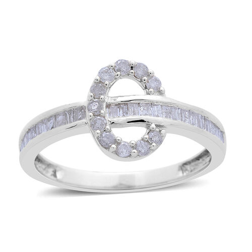 9K White Gold 0.50 Carat Diamond Ring SGL Certified I3 G-H