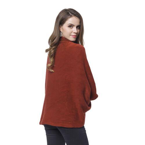 Designer Inspired-Wine Red Colour Kimono (Size 105X35 Cm)