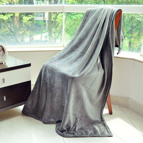 Super Auction-Superfine Silver Colour Microfibre Blanket 150x200 cm
