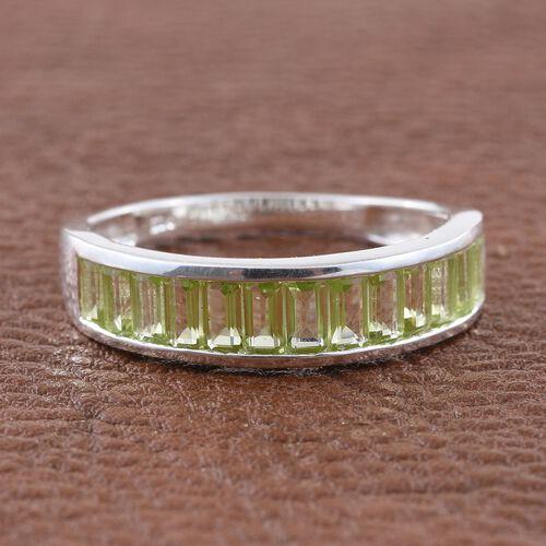 Hebei Peridot (Oct) Half Eternity Ring in Sterling Silver 2.000 Ct.