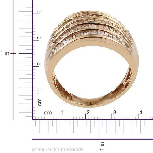 Diamond (Bgt) Ring in 14K Gold Overlay Sterling Silver 0.975 Ct.