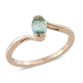 9K Y Gold Boyaca Colombian Emerald (Ovl) Solitaire Ring 0.750 Ct.