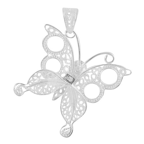 Royal Bali Collection Sterling Silver Butterfly Pendant