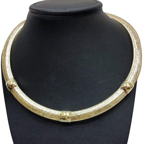 Made in Italy 9K Yellow Gold Designer Inspired Mesh Necklace (Size 18), Gold wt 10.16 Gms.